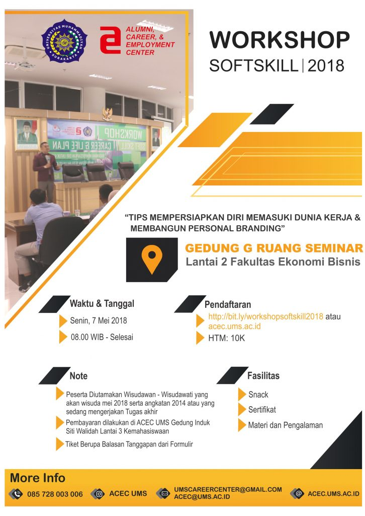 Let's Join US – Workshop Softskill 2018